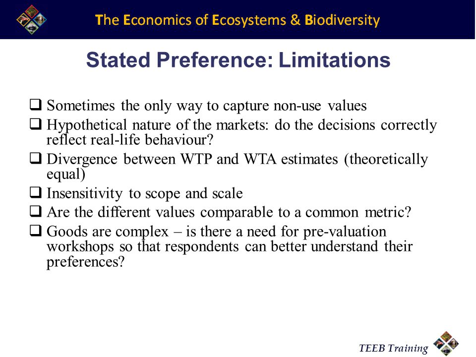 Stated Preference: Limitations