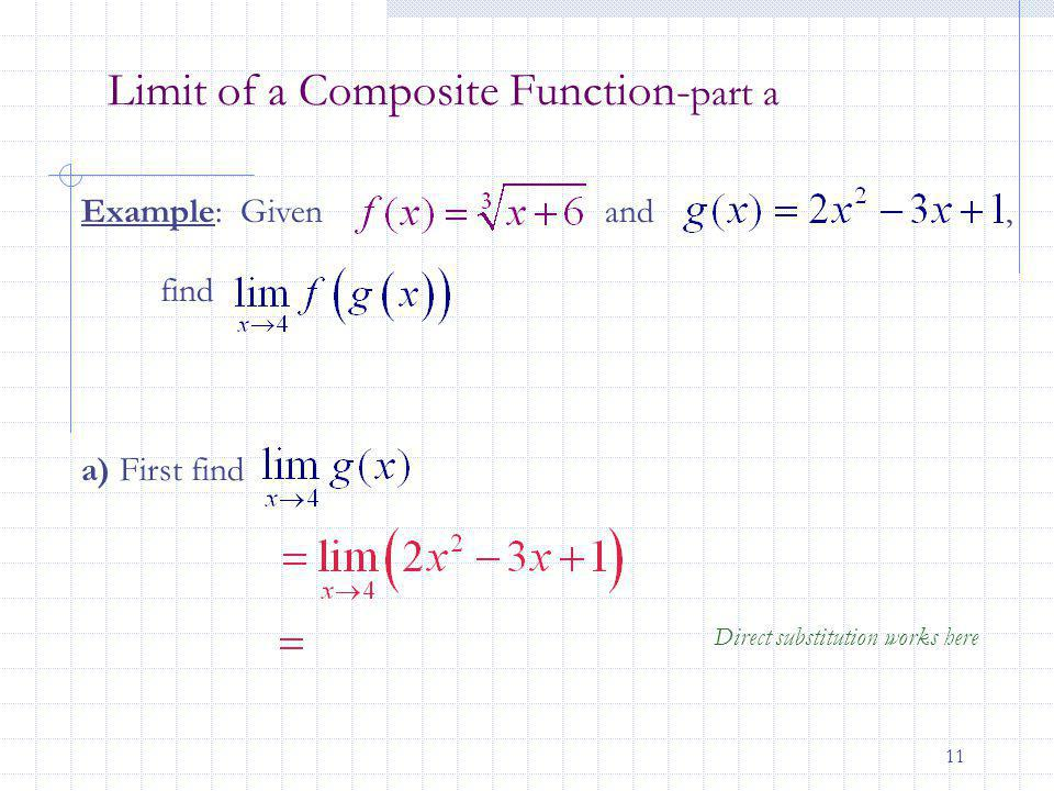 Limit of a Composite Function-part a