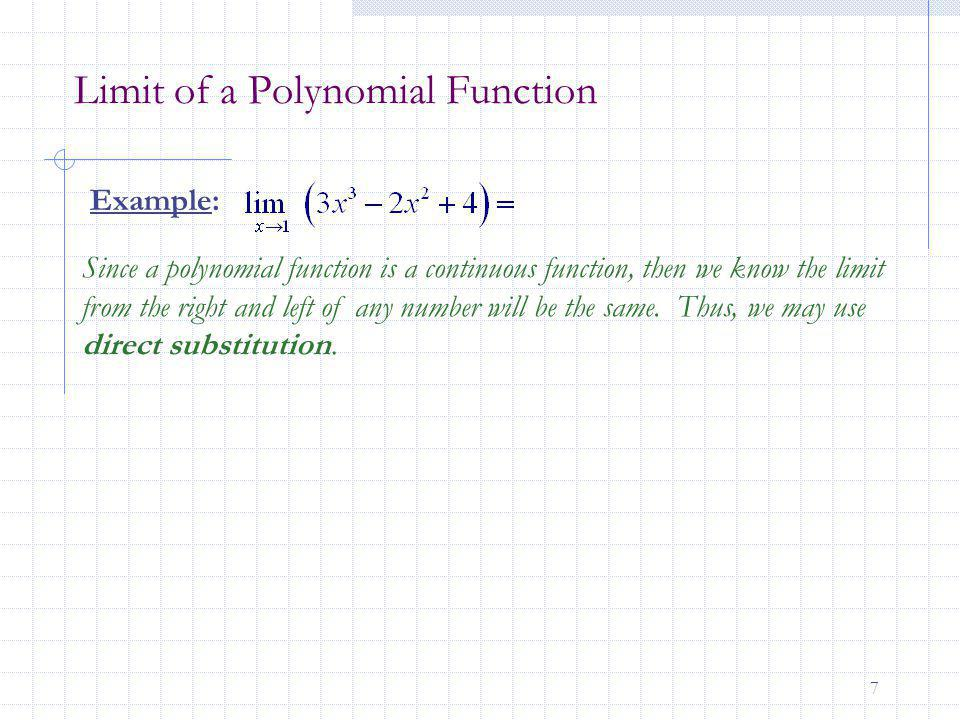 Limit of a Polynomial Function