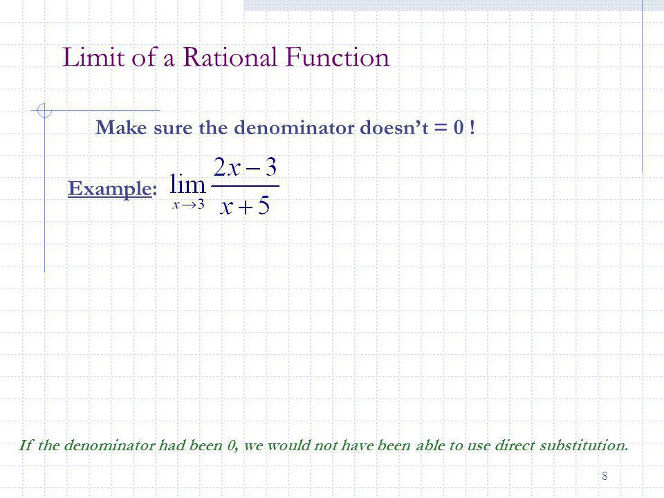 Limit of a Rational Function