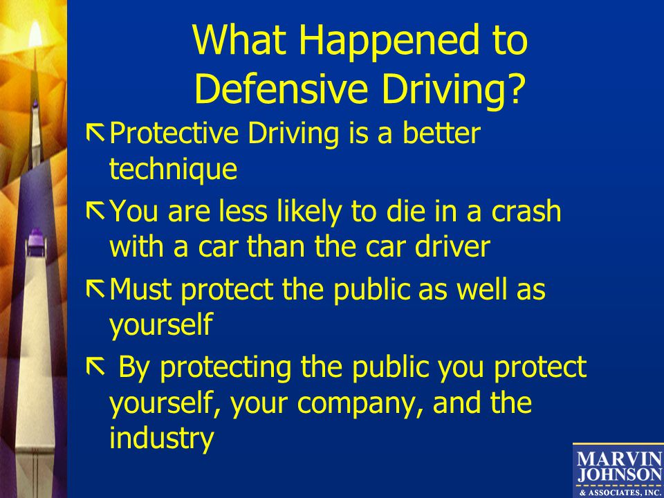 What Happened to Defensive Driving