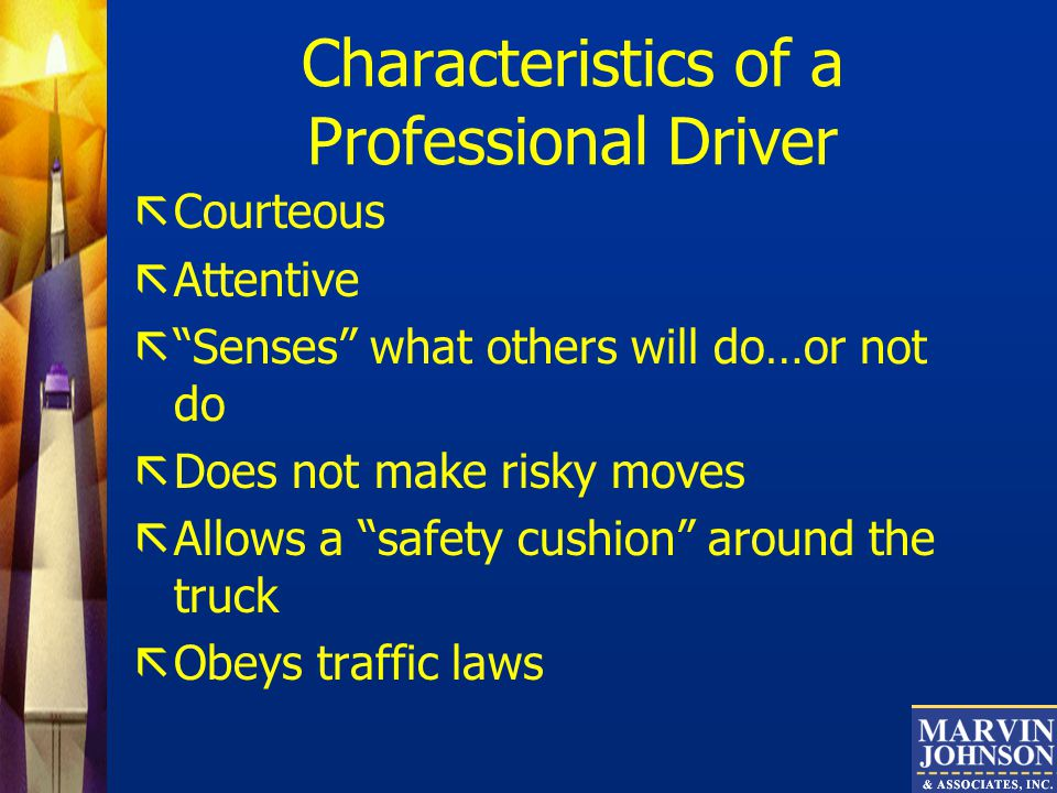 Characteristics of a Professional Driver