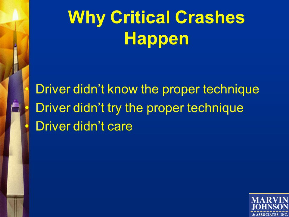 Why Critical Crashes Happen