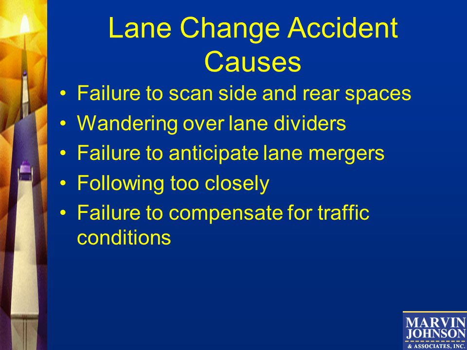 Lane Change Accident Causes