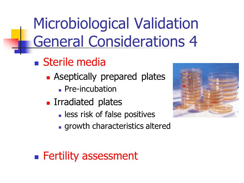 Microbiological Validation General Considerations 4