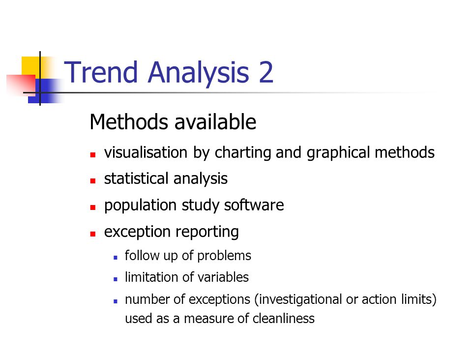 Trend Analysis 2 Methods available