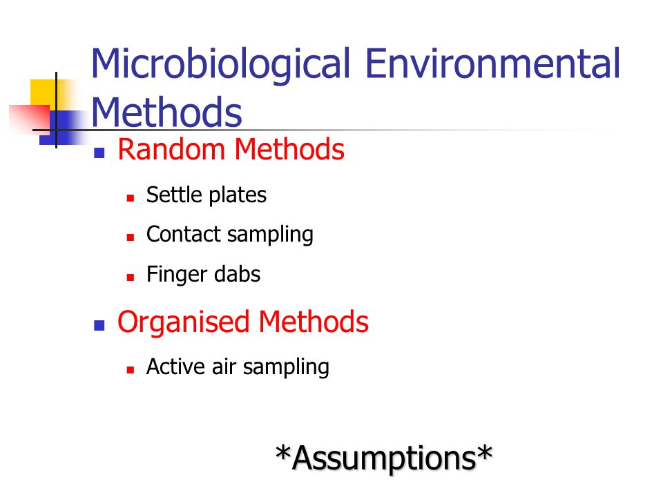 Microbiological Environmental Methods