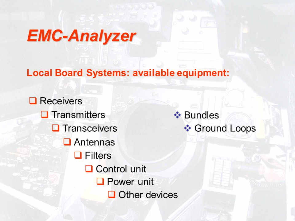 EMC-Analyzer Local Board Systems: available equipment: Receivers