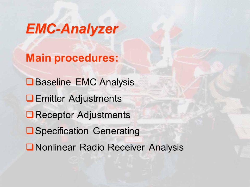 EMC-Analyzer Main procedures: Baseline EMC Analysis