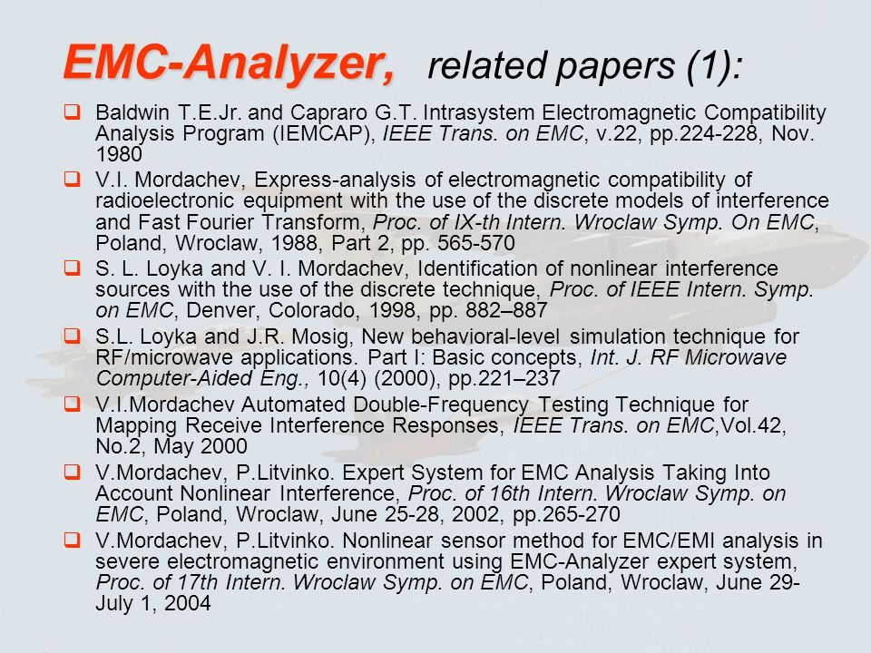EMC-Analyzer, related papers (1):