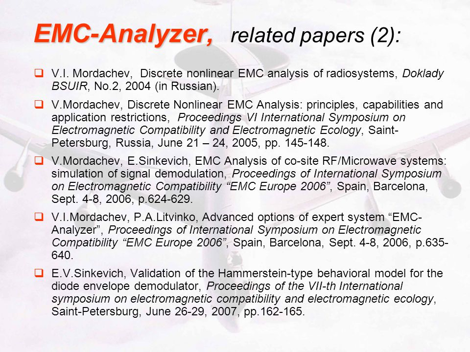 EMC-Analyzer, related papers (2):