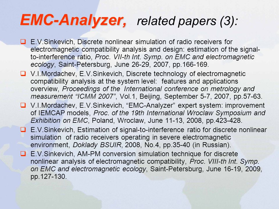 EMC-Analyzer, related papers (3):