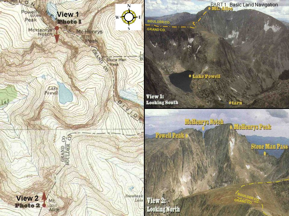 View 1 View 2 PART 1 Basic Land Navigation