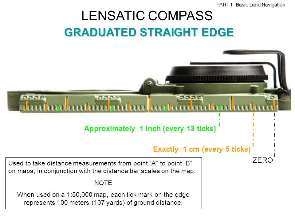 LENSATIC COMPASS GRADUATED STRAIGHT EDGE