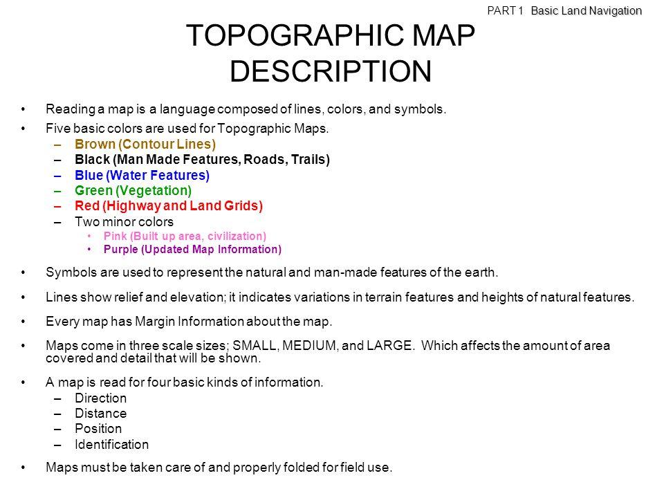 TOPOGRAPHIC MAP DESCRIPTION