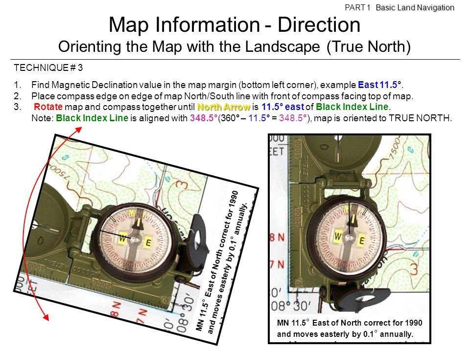 Map Information - Direction