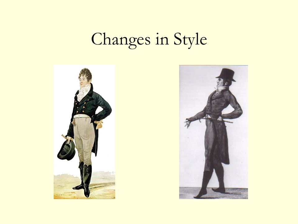 Changes in Style