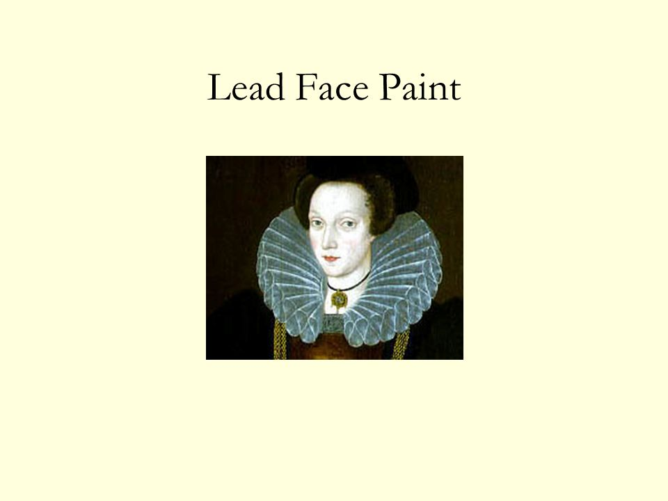 Lead Face Paint
