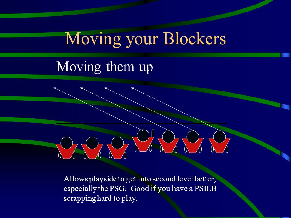 Moving your Blockers Moving them up
