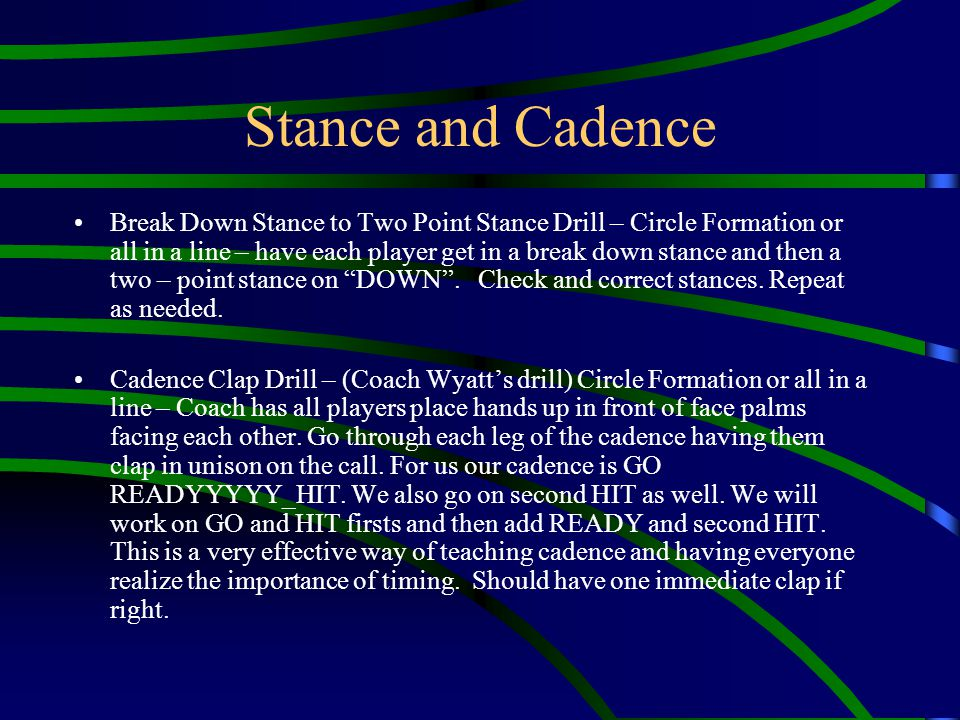 Stance and Cadence