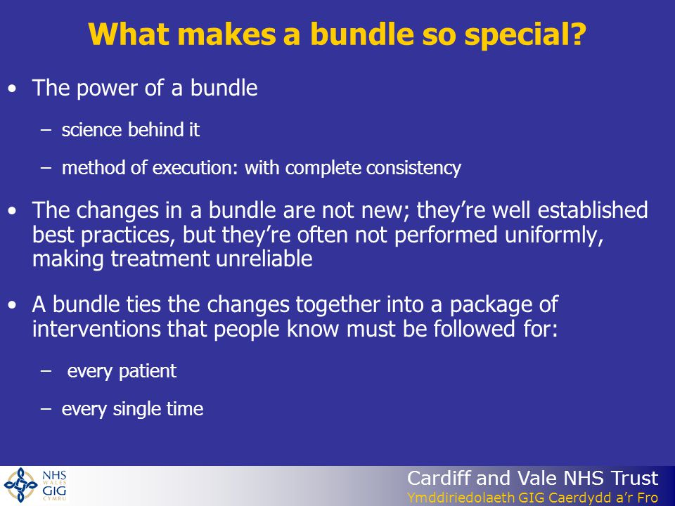 What makes a bundle so special