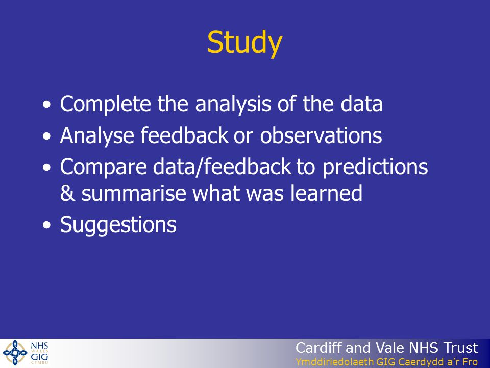 Study Complete the analysis of the data