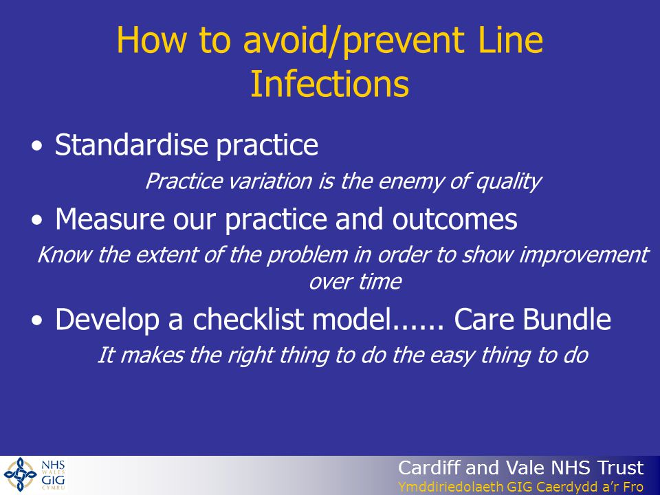 How to avoid/prevent Line Infections