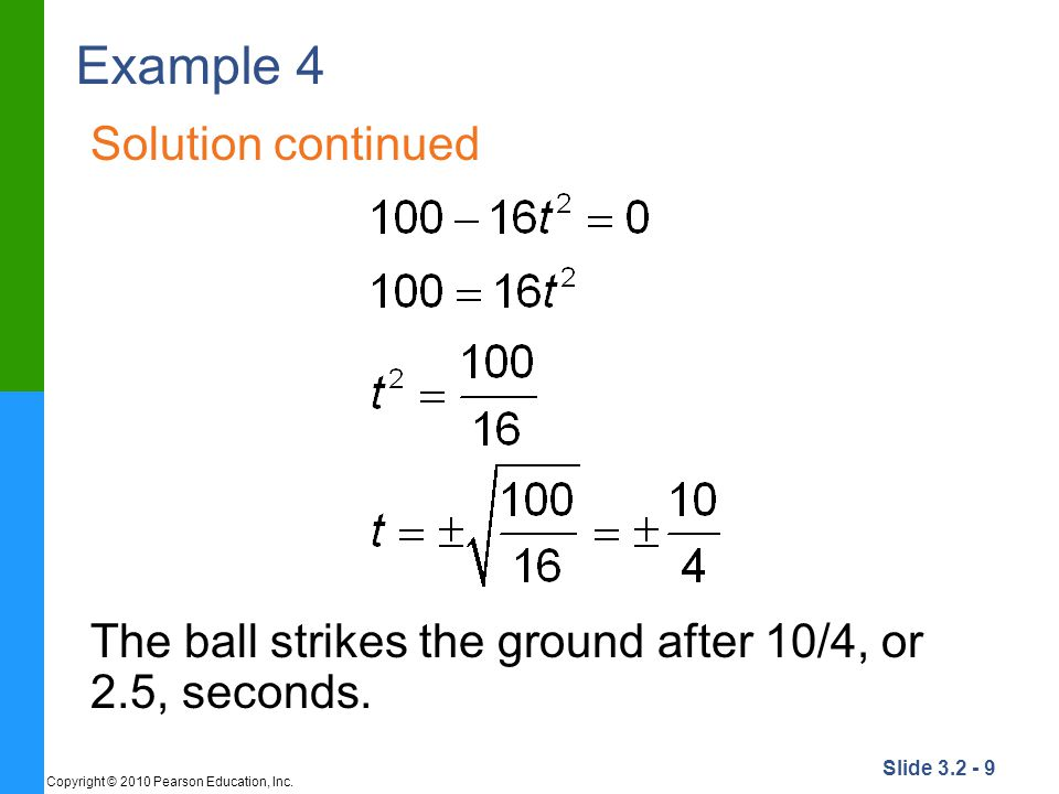 Example 4 Solution continued