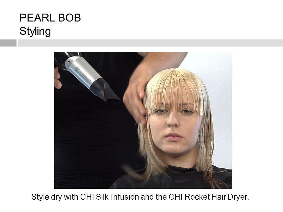 Style dry with CHI Silk Infusion and the CHI Rocket Hair Dryer.