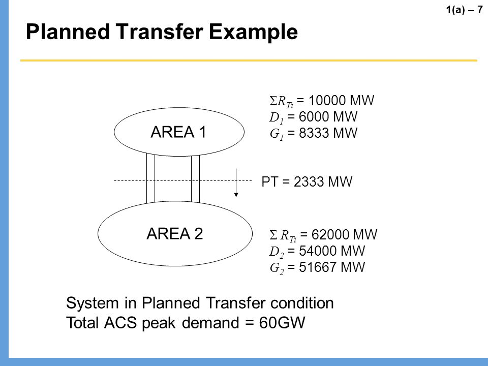 Planned Transfer Example