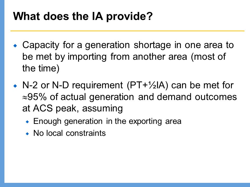 What does the IA provide