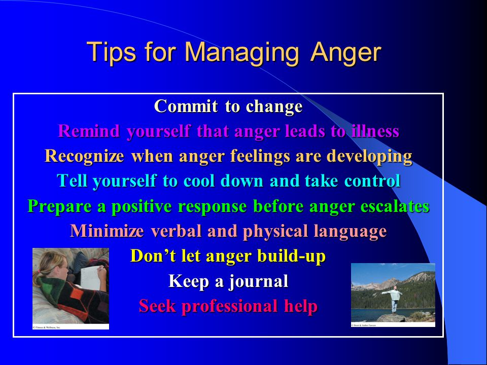 Tips for Managing Anger