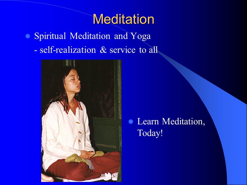 Meditation Spiritual Meditation and Yoga