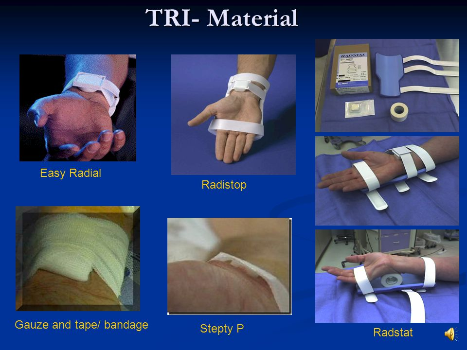 TRI- Material Easy Radial Radistop Gauze and tape/ bandage Stepty P