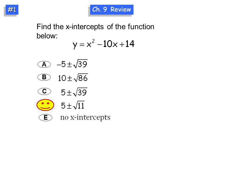 Find the x-intercepts of the function below:
