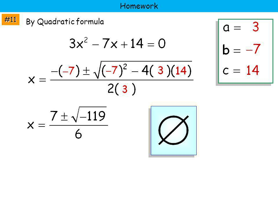Homework #11 By Quadratic formula
