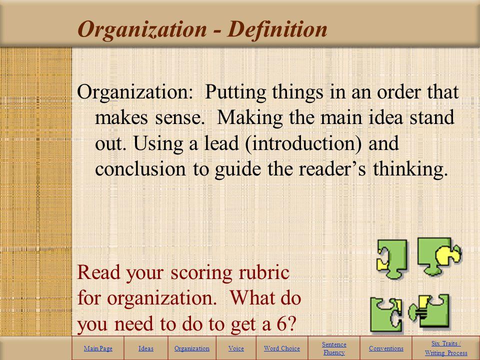 Organization - Definition