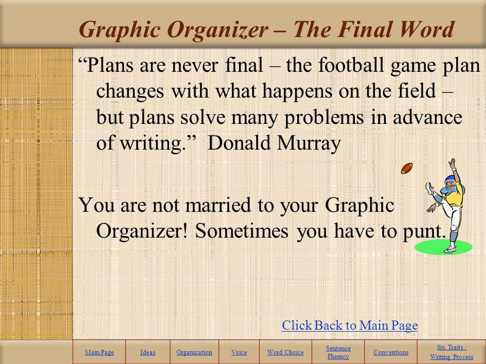 Graphic Organizer – The Final Word