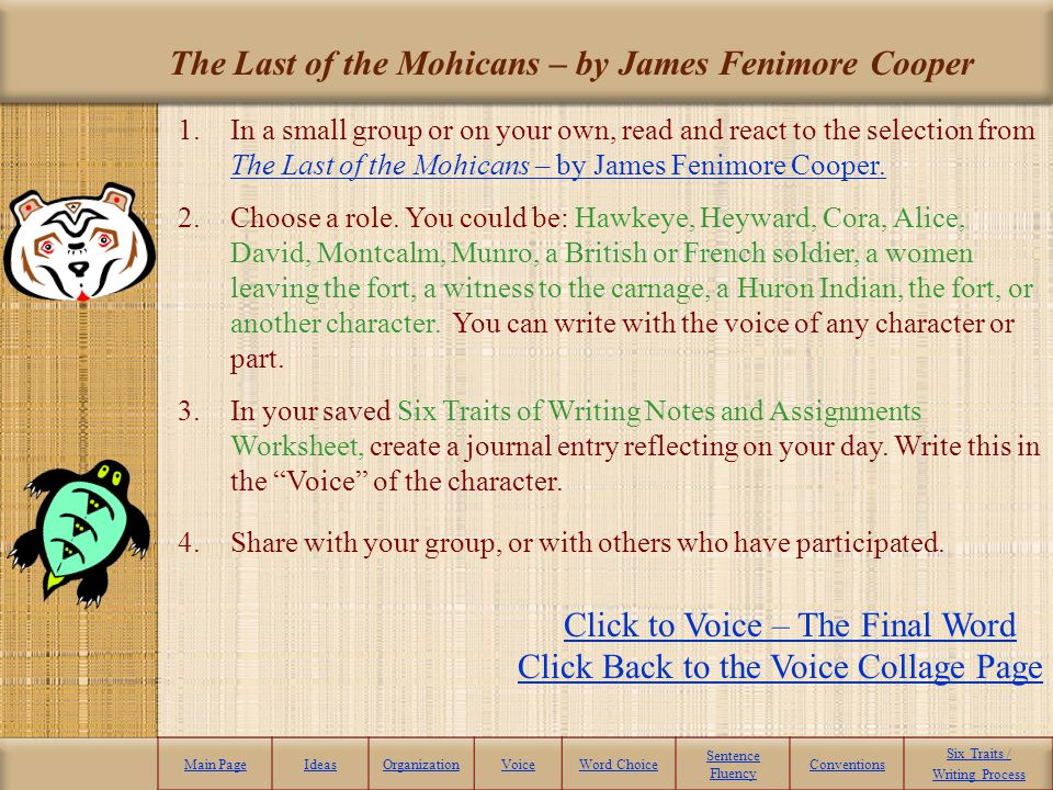 The Last of the Mohicans – by James Fenimore Cooper