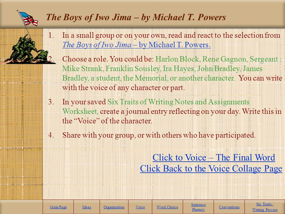 The Boys of Iwo Jima – by Michael T. Powers