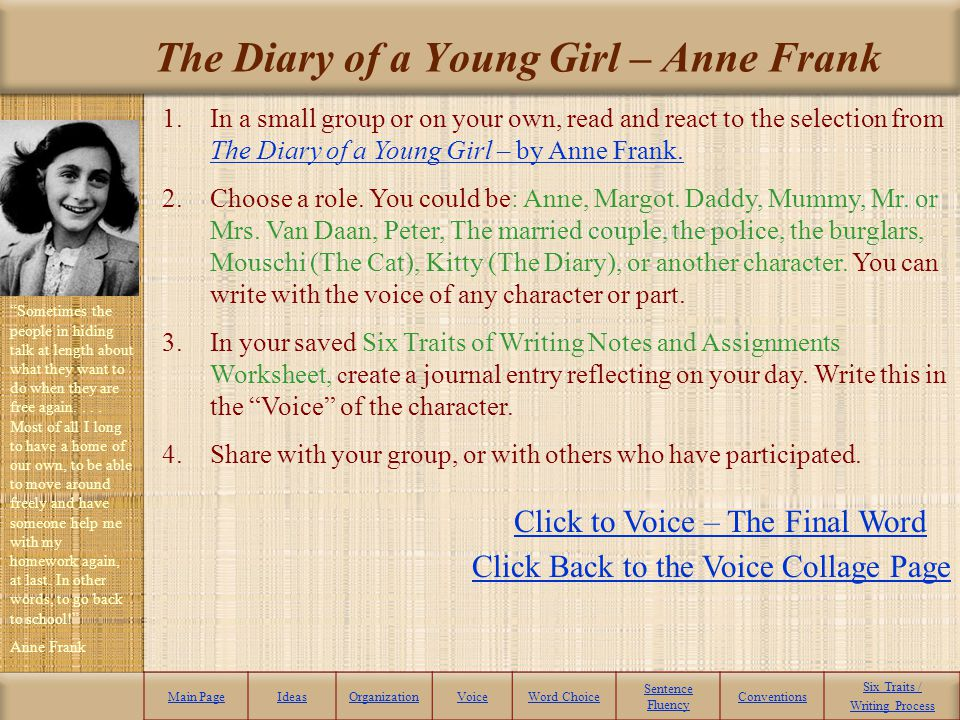 The Diary of a Young Girl – Anne Frank