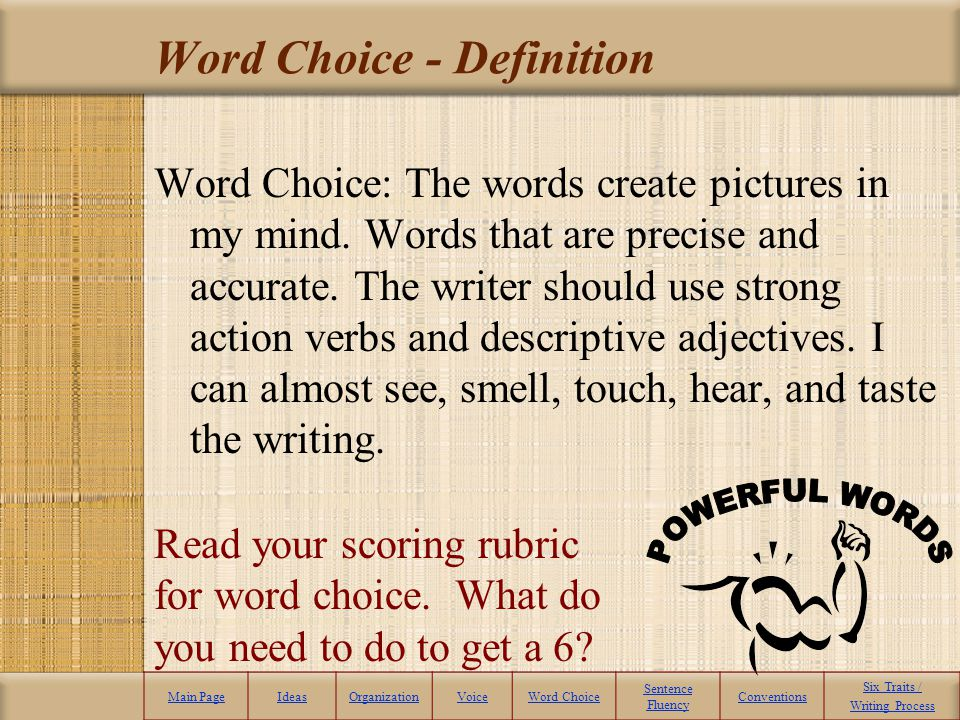 Word Choice - Definition