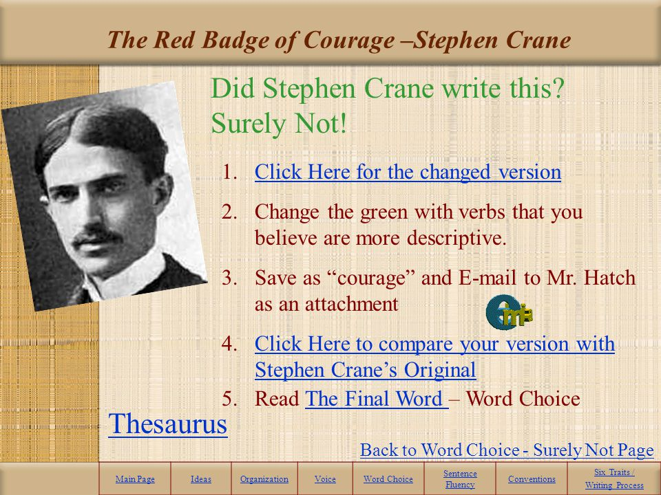 The Red Badge of Courage –Stephen Crane