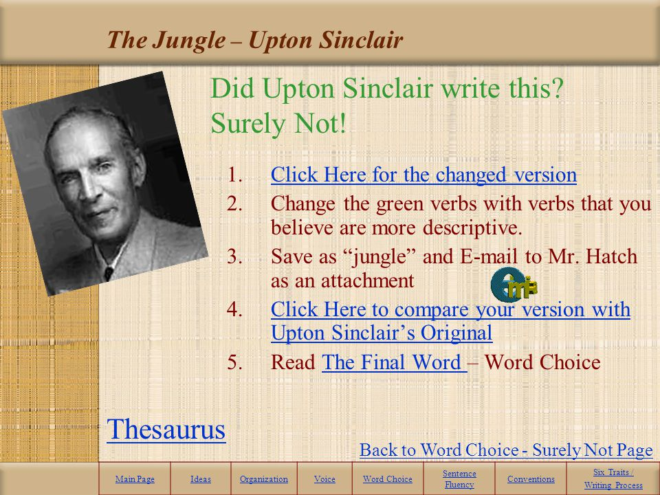 The Jungle – Upton Sinclair