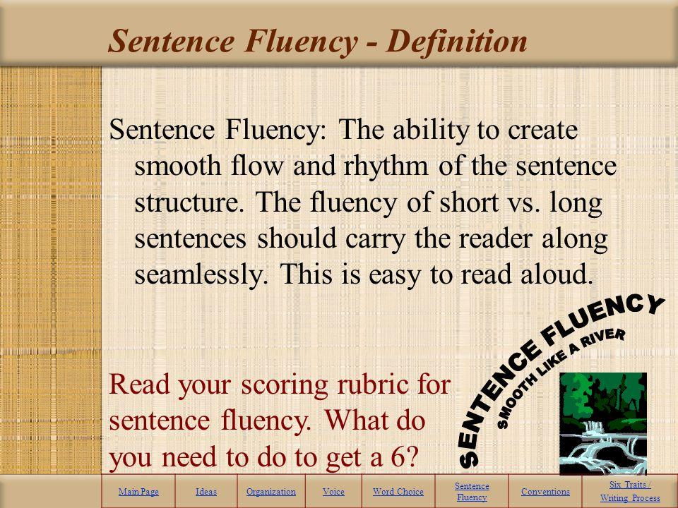 Sentence Fluency - Definition