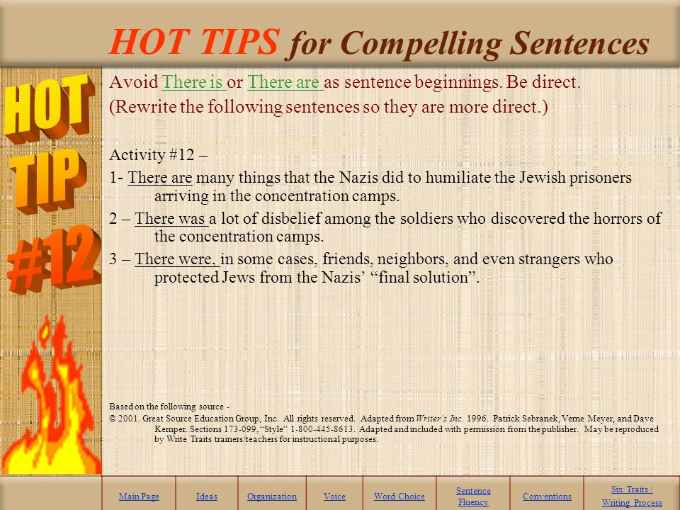 HOT TIPS for Compelling Sentences