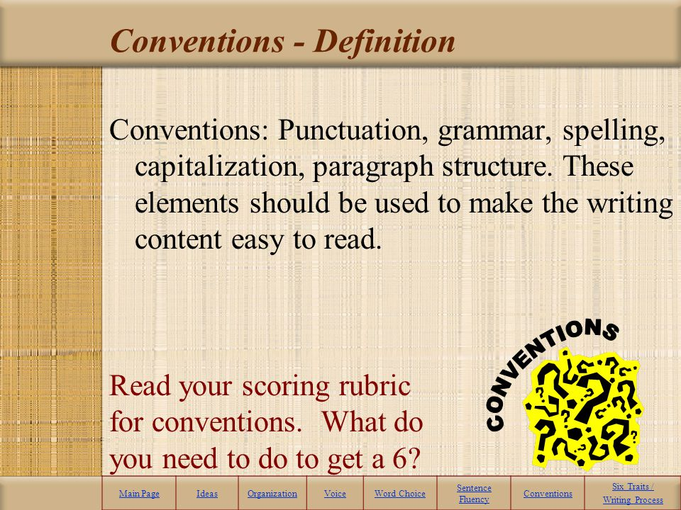 Conventions - Definition