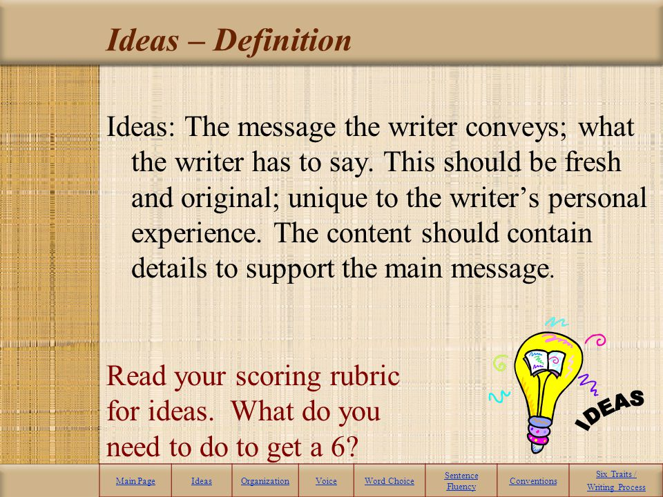 Ideas – Definition IDEAS