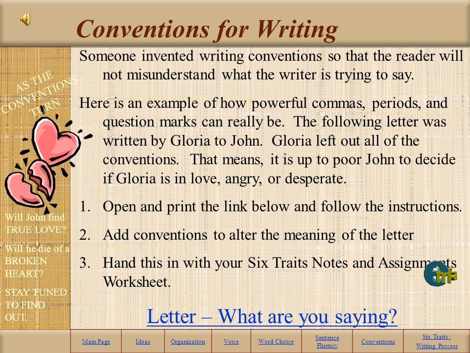 Conventions for Writing
