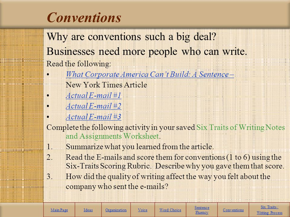 Conventions Why are conventions such a big deal